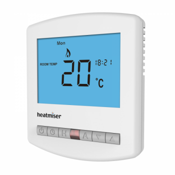 Heatmiser Slimline-HW-N - Multi-Mode Network Thermostat with Hot Water (12v)