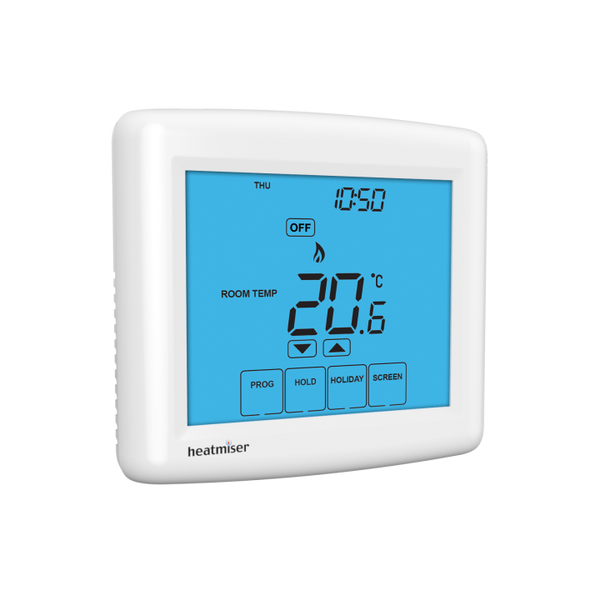 Heatmiser Touch-HW-N - Multimode Touchscreen Network Thermostat with Hot Water (12v)